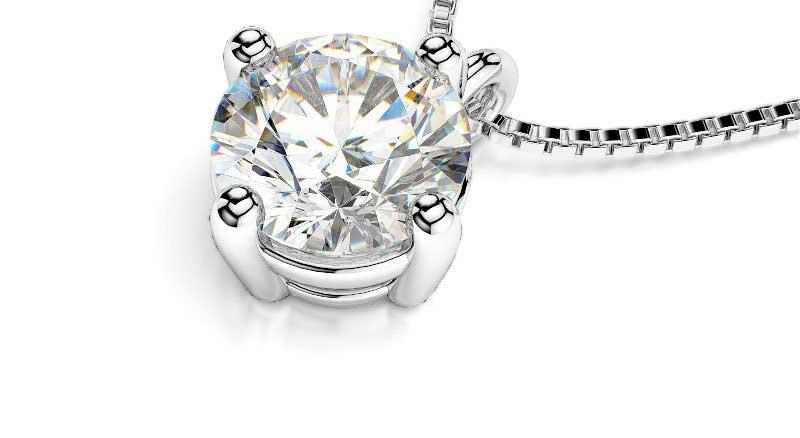 Colliers diamant solitaire
