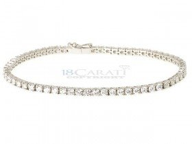 Bracelet tennis diamant en or 18 carats 4ct