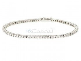 Bracelet tennis diamant en or 18 carats 2.5ct