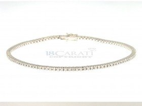 Bracelet tennis diamant en or 18 carats 0.85ct