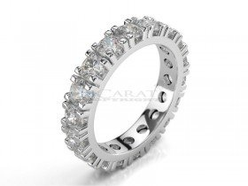 Bague alliance pave diamants 3.00ct