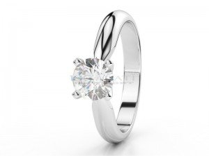 Solitaire setting 6 prongs platinum
