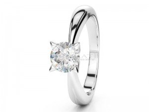 Solitaire setting 4 prongs platinum
