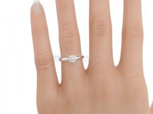 Solitaire setting - 6 prongs platinum