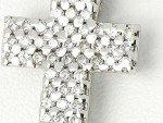 Collier croix diamants en or 18 carats 0.86ct